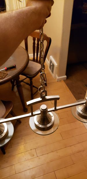 Hampton bay light fixture chandelier for Sale in Denver, CO