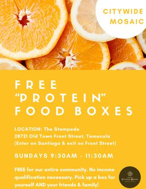 Free protein boxes for Sale in Temecula, CA