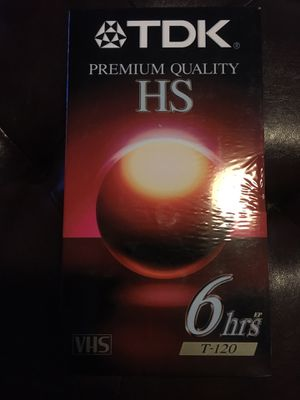 TDK Premium Quality HS VHS Tapes (never opened) for Sale in NEW PRT RCHY, FL