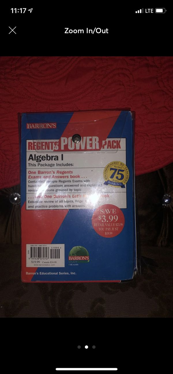 Barrons Algebra Regents Powerpack