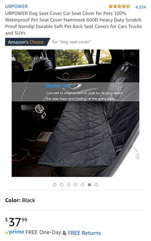 Waterproof Dog Seat Cover for Sale in San Francisco, CA
