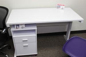 Aubrey Student Desk with File Cabinet, White, SKU # 151179-80 for Sale in Downey, CA