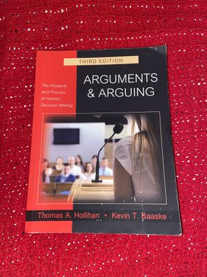 Arguments & Arguing 3rd Edition Textbook for Sale in Los Angeles, CA