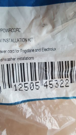 Electrolux power cord DW Install kit for Sale in Riverside, CA