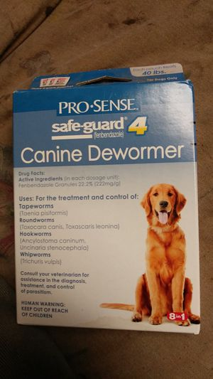 24 boxes Prosense Safeguard 4 canine dewormer for Sale in Sacramento, CA