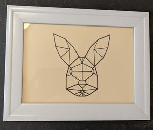Geometric bunny wall decor for Sale in Denver, CO