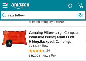Self inflatable camping or travel pillow for Sale in Chicago, IL
