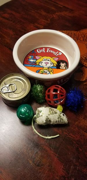 CAT Dish/food and Toys LOT for Sale in Riverside, CA