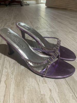 Purple heels / size 8 for Sale in Galt, CA
