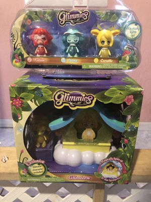 NEW Glimmies Glimtern with Character plus another 3 characters for Sale in Hialeah, FL