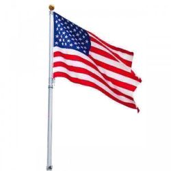 New 16 ft Sectional Telescoping Flagpole Kit with an American Flag for Sale in Los Angeles,  CA