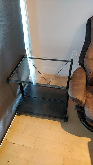 Black metal/glass top coffee table for Sale in Austin, TX