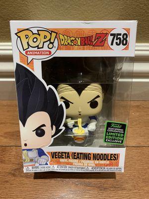 Damaged Box Funko Pop! Dragonball Z DBZ Vegeta Eating Noodles ECCC Amazon Exclusive for Sale in Anaheim, CA