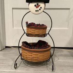 Longaberger Snowman With Baskets for Sale in Bailey's Crossroads, VA