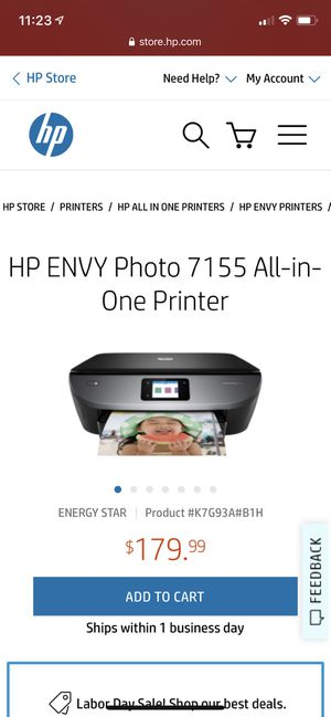 HP photo printer for Sale in Charlotte, NC