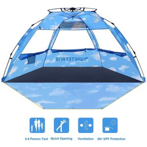 WhiteFang Beach Tent, Pop Up Instant Family Tent with UPF 50 Sun Protection,3-4 Person Automatic & Windproof Sun Shelter Cabana with Carrying Bag, St for Sale in Rancho Cucamonga, CA