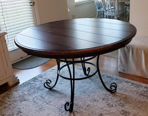 Wood and cast aluminum kitchen table for Sale in Murfreesboro, TN