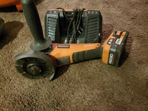 Rigid 18 V brushless grinder With a 2.0 battery and charger for Sale in Salt Lake City, UT