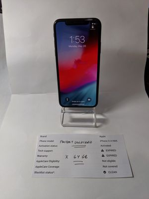 Iphone X 64gb Factory Unlocked Mint! for Sale in Tampa, FL