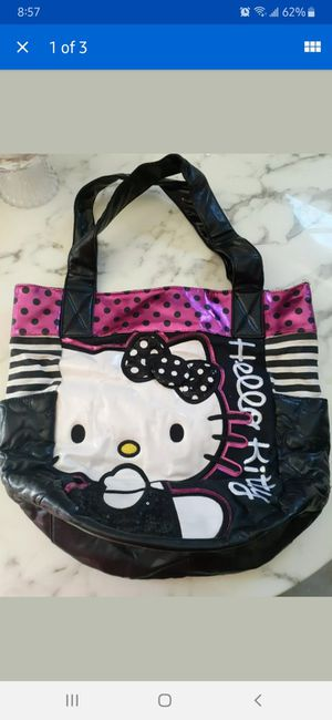HELLO KITTY MEDIUM TOTE BAG IT IS USED AS YOU CAN SEE. PICK UP ONLY $8.00 for Sale in Riverside, CA