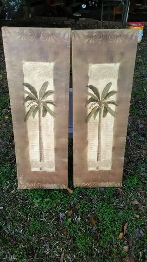 Two pictures of palm trees for Sale in Clanton, AL