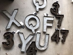 Illuminated Metal Marquee Letters & Numbers Lot for Sale in San Diego, CA