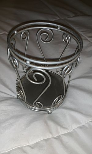 Silver candle holder candle not included for Sale in Colton, CA