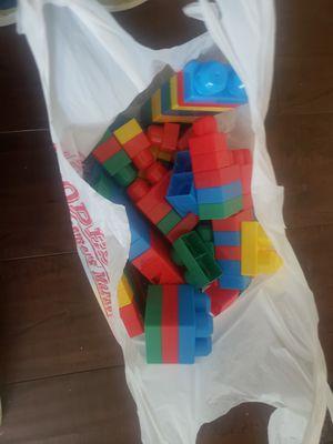 Bag of Blocks $2 (not mega brand) for Sale in Modesto, CA