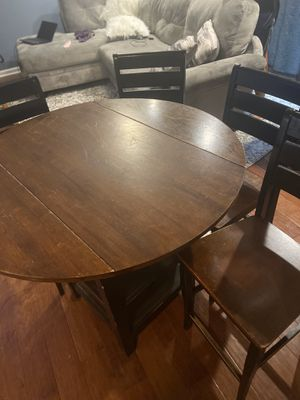 Bar Height Kitchen Dinning Table with 4 Chairs for Sale in Columbus, OH