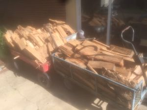 A large cart full of firewood for 25 bucks or two carts for 40 bucks for Sale in Virginia Beach, VA