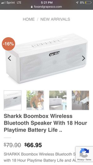 Sharkk Bluetooth portable boom box speakers speaker for Sale in Minneapolis, MN