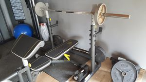 Lightly used bench press with squat rack for Sale in Los Angeles, CA