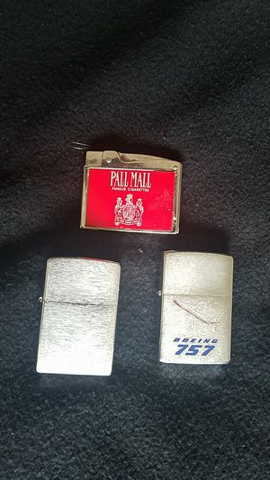 2 zippo and 1 pall mall lighter 35 dollars for all for Sale in Kent, WA