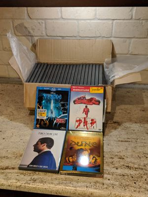 $10 BUNDLE DVD blu ray movies & 21 new DVD empty cases, Dune director's cut, Tron Legacy, Akira, Punch Drunk Love for Sale in Dallas, TX