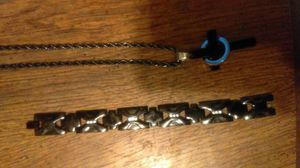 Cross chain with matching bracelet for Sale in Oxon Hill-Glassmanor, MD