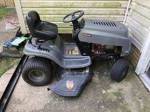 Craftsmen LT 1500 riding mower tractor no key for Sale in Euclid, OH