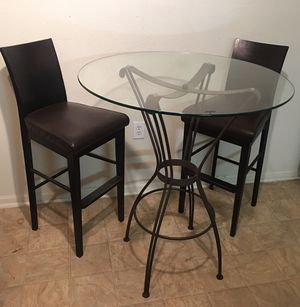 Glass Top Pub Table for Sale in Durham, NC