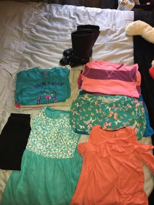 Name Brand Girls Clothes Size 7/8 Boots size 13 for Sale in Selmer, TN