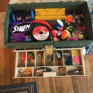 Plano 707 Tackle Box And Fishing Gear for Sale in Milwaukie, OR