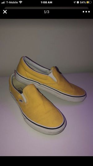 vans size 10.5 yellow slip ons for Sale in Middletown, OH