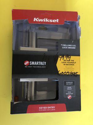 Kwikset Door Handle Keyed Entry SmartKey New for Sale in Lathrop, CA