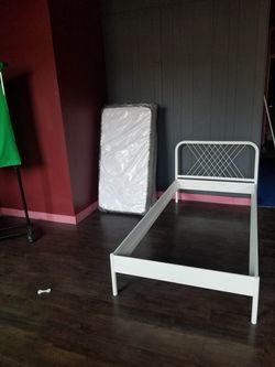 Twin bed frame with headboard for Sale in Freeport,  IL