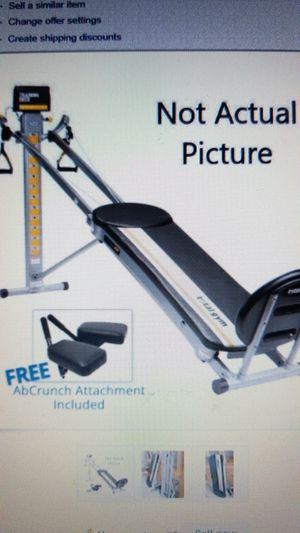 Total Gym FIT Signature Series - Limited Edition with AbCrunch Attachment for Sale in Naperville, IL