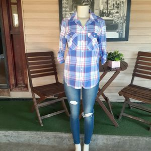 NWT Express Long Sleeve Plaid Print Button Down for Sale in Sacramento, CA