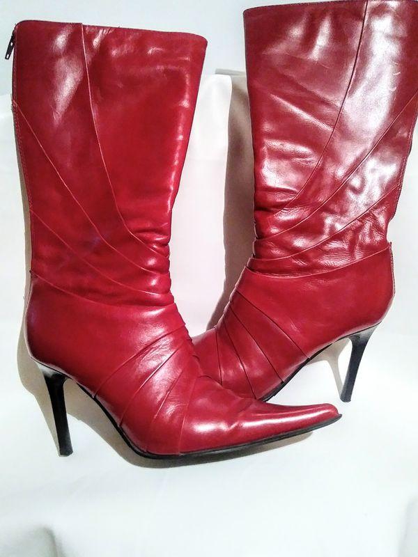 Aldo Red Boots Sz 9 New