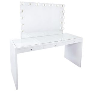 MAKEUP VANITY DESK WITH MIRROR FINANCING AVAILABLE PICK UP TODAY for Sale in Chino, CA