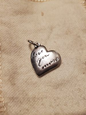 James avery love you more charm w/cut loop for Sale in San Antonio, TX