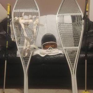 Snow Shoes Poles Helmet & Goggles for Sale in Visalia, CA