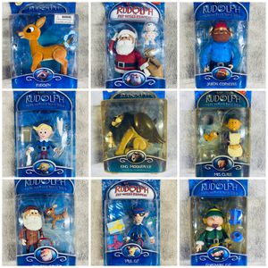 Lot of 13 Vintage Rudolph Red-Nosed Reindeer Island Misfit Toys Action Figure Holiday Snow Memory Lane Christmas Playing Mantis Santa Claus Figurine for Sale in Brea, CA