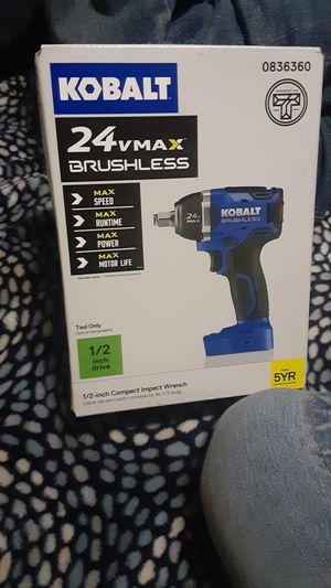 Kobalt 24v MAX Brushless 1/2 impact wrench for Sale in Lancaster, CA
